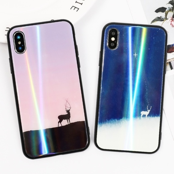 NEW iPhone XS/X/7/8/Plus Deer Glass Case